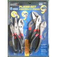 T708404- Matrix Pliers Set Assorted 6/pkg
